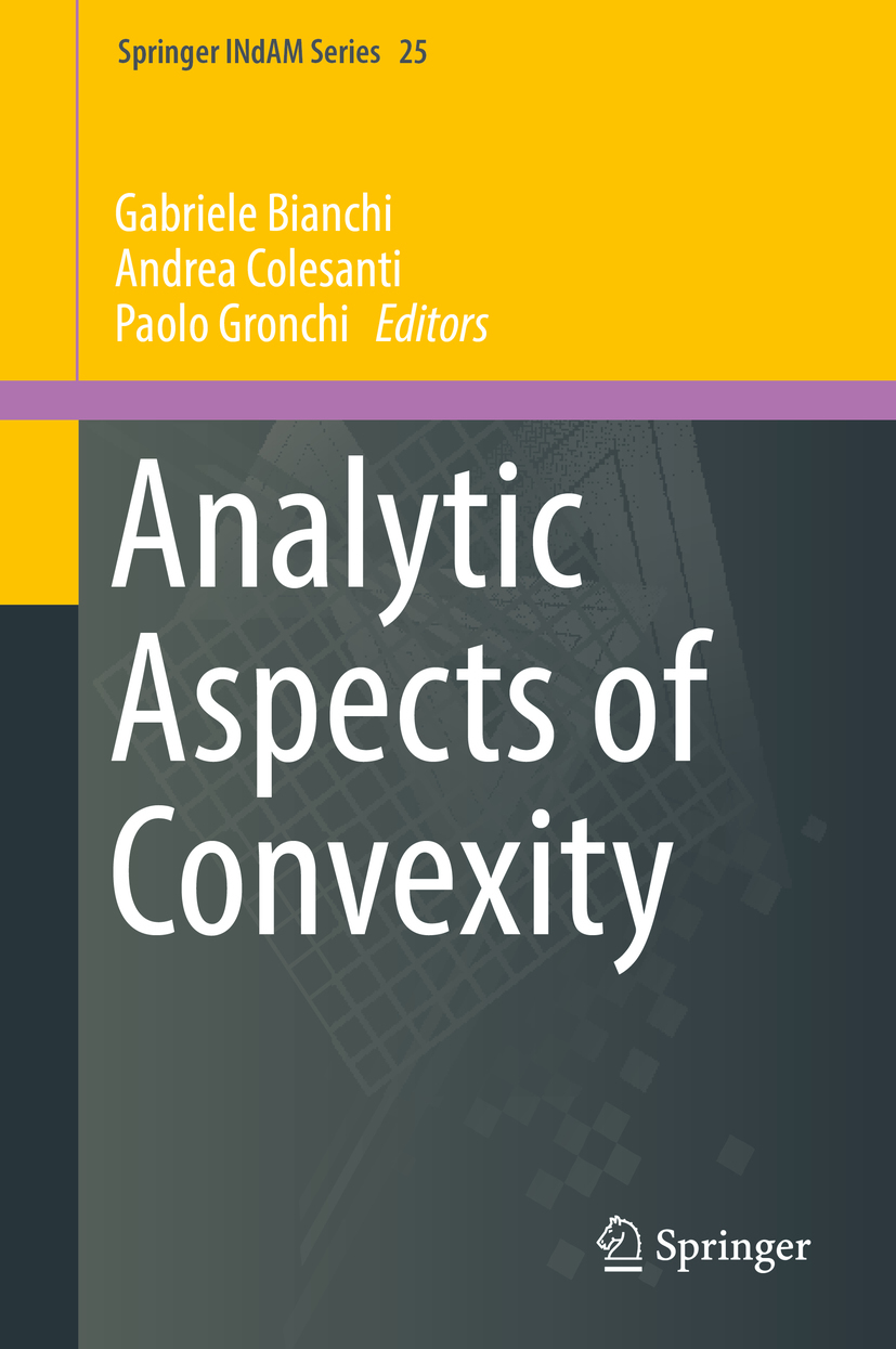 Bianchi, Gabriele - Analytic Aspects of Convexity, ebook