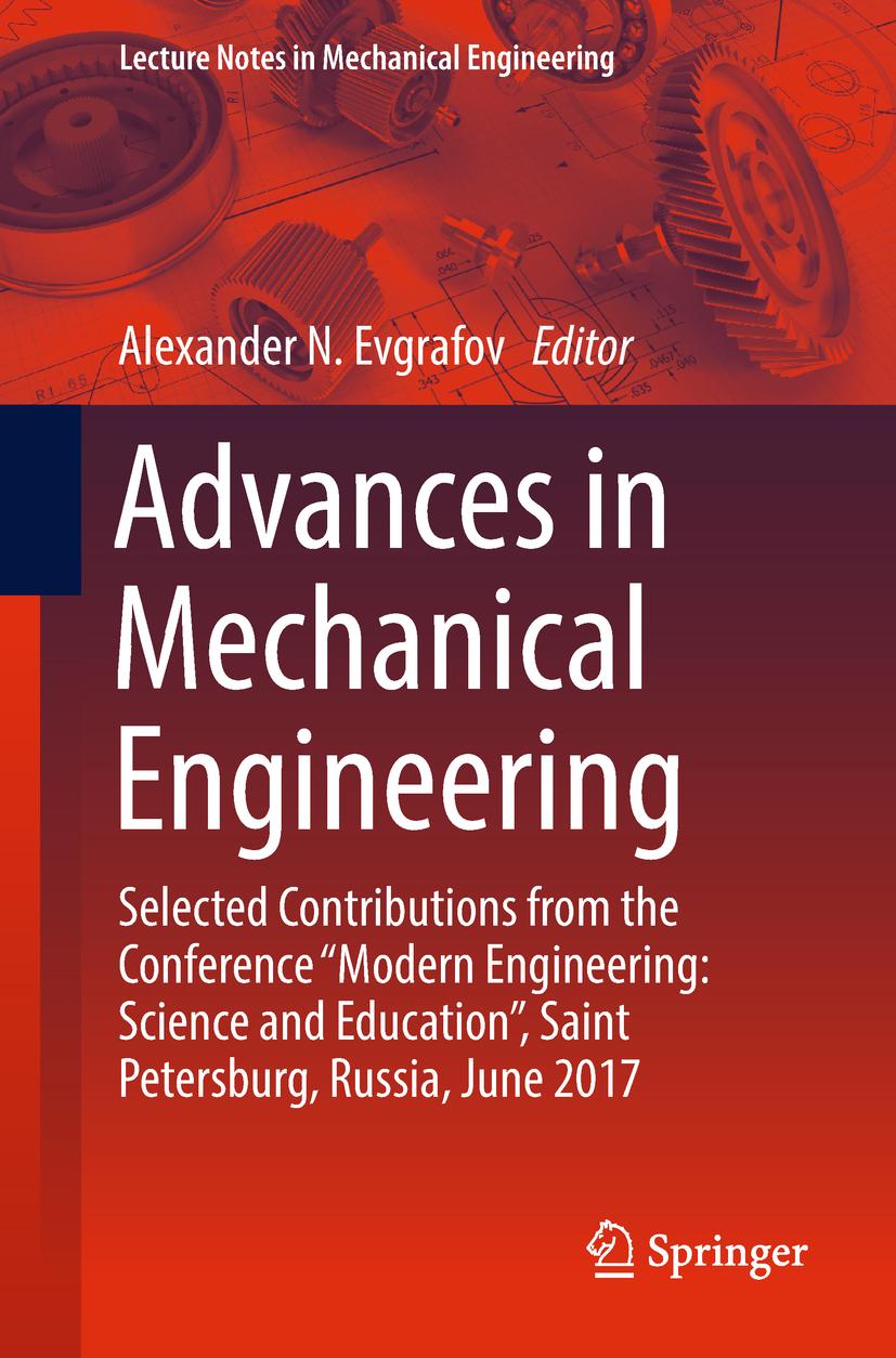 Evgrafov, Alexander N. - Advances in Mechanical Engineering, ebook