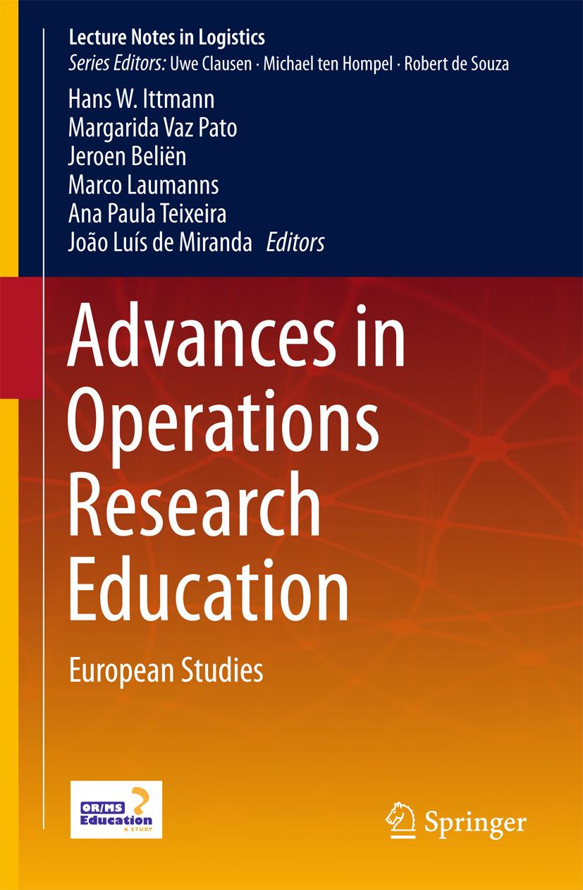 Beliën, Jeroen - Advances in Operations Research Education, e-bok