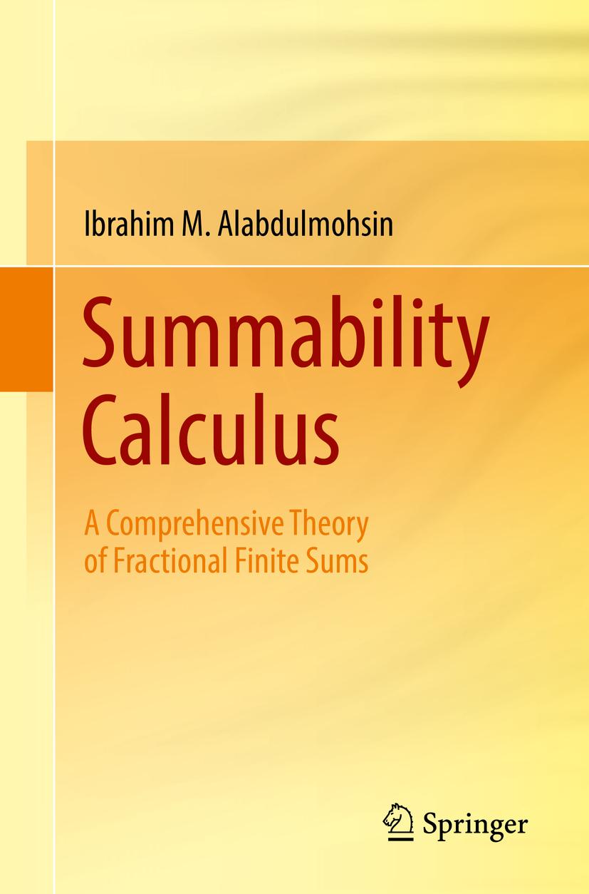 Alabdulmohsin, Ibrahim M. - Summability Calculus, ebook