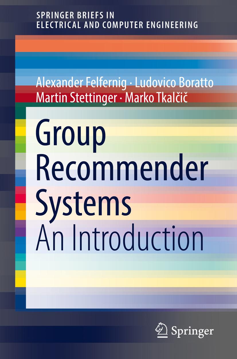 Boratto, Ludovico - Group Recommender Systems, ebook