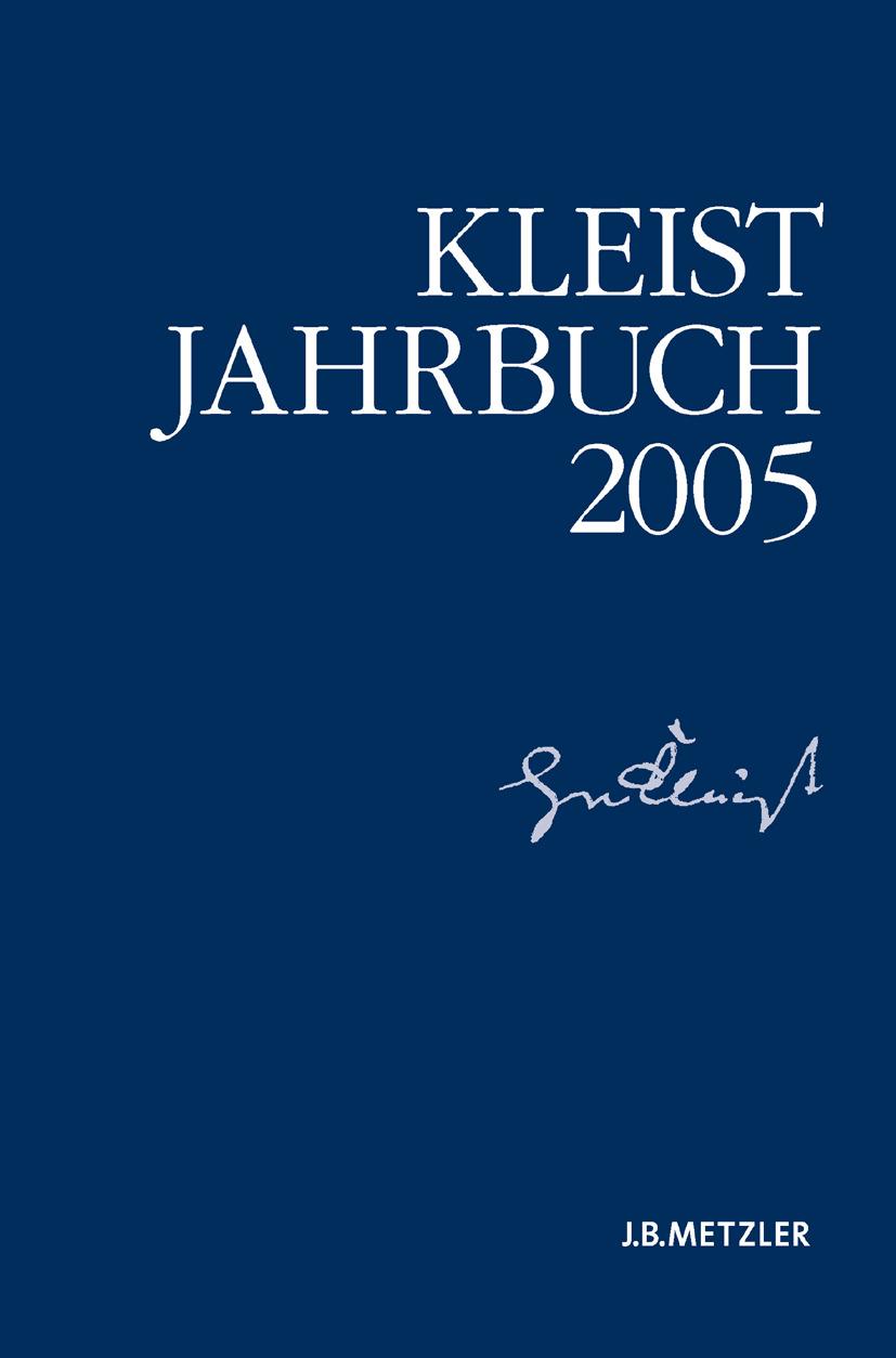 Blamberger, Günter - Kleist-Jahrbuch 2005, e-bok
