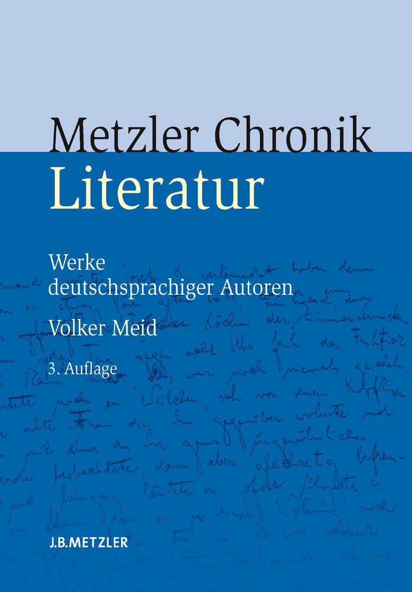 Meid, Volker - Metzler Literatur Chronik, ebook
