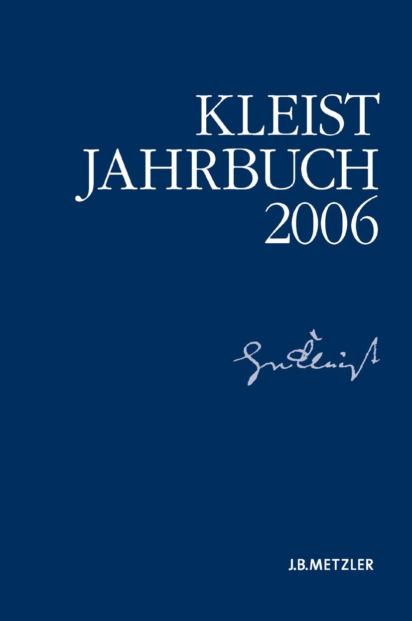 Blamberger, Günter - Kleist-Jahrbuch 2006, ebook