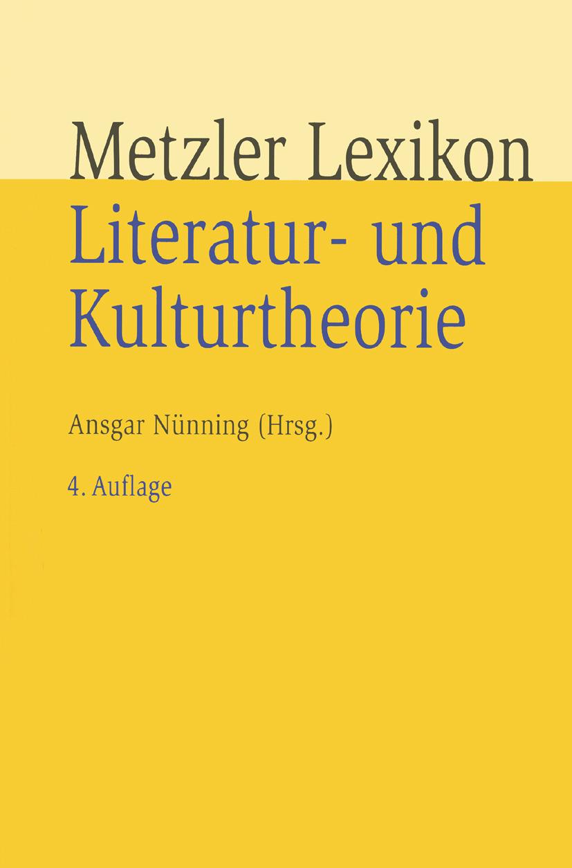 Nünning, Ansgar - Metzler Lexikon Literatur- und Kulturtheorie, ebook