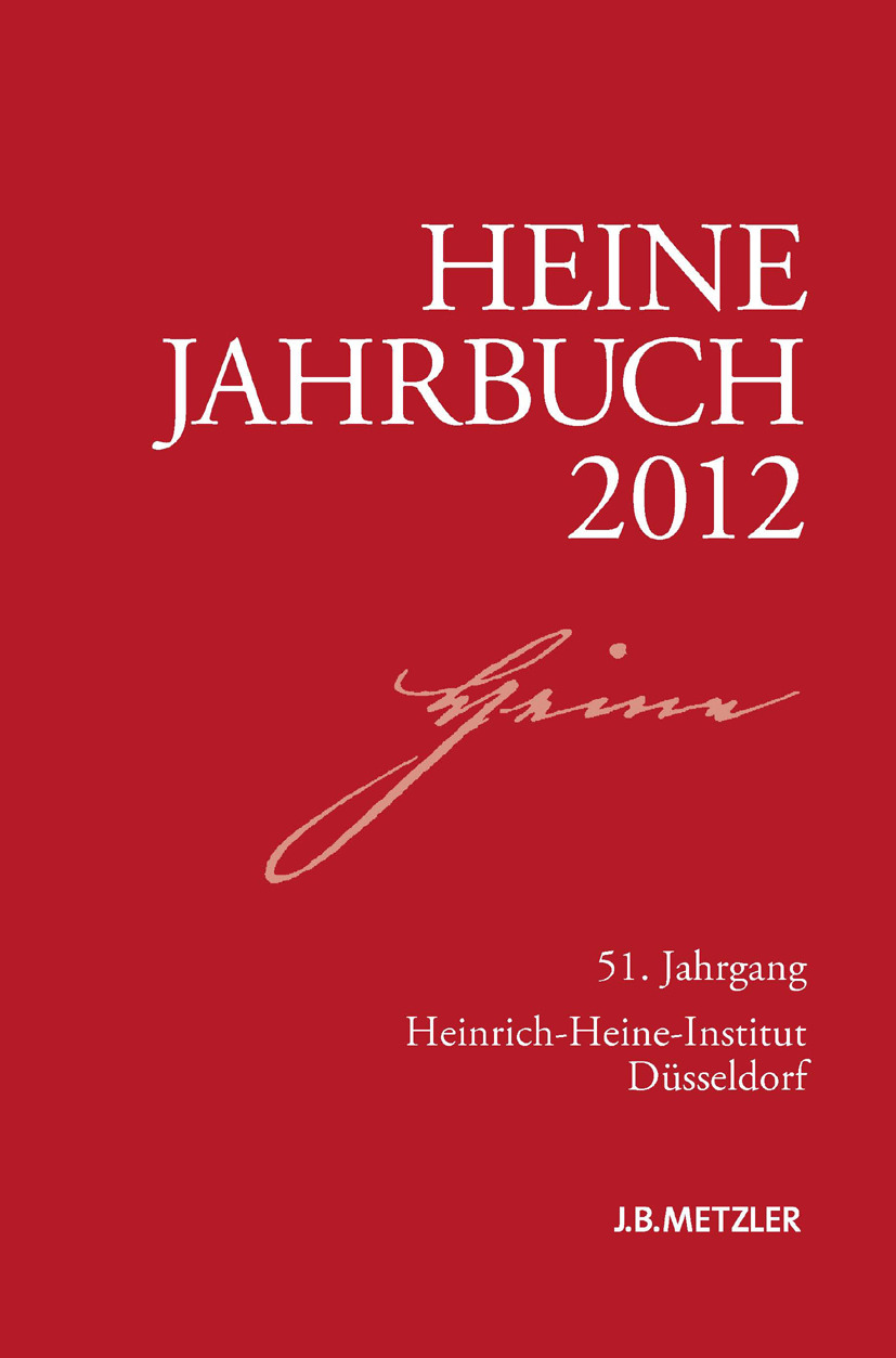 Brenner-Wilczek, Sabine - Heine-Jahrbuch 2012, ebook