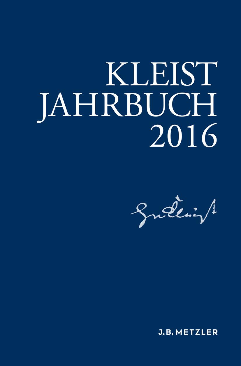 Blamberger, Günter - Kleist-Jahrbuch 2016, ebook