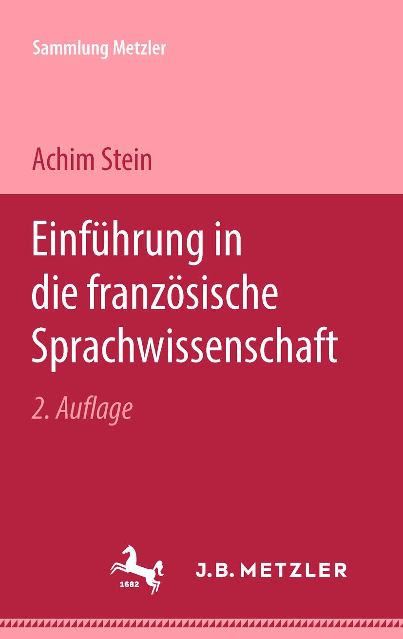 Stein, Achim - Einführung in die französische Sprachwissenschaft, ebook
