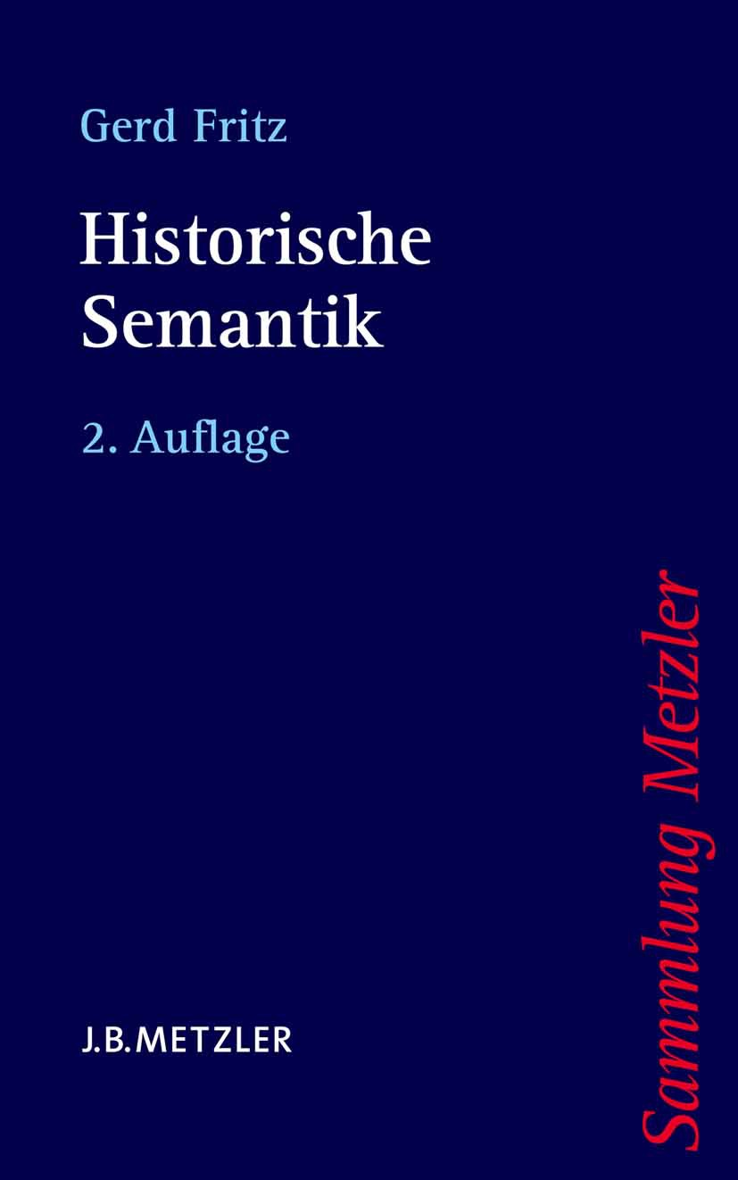 Fritz, Gerd - Historische Semantik, ebook
