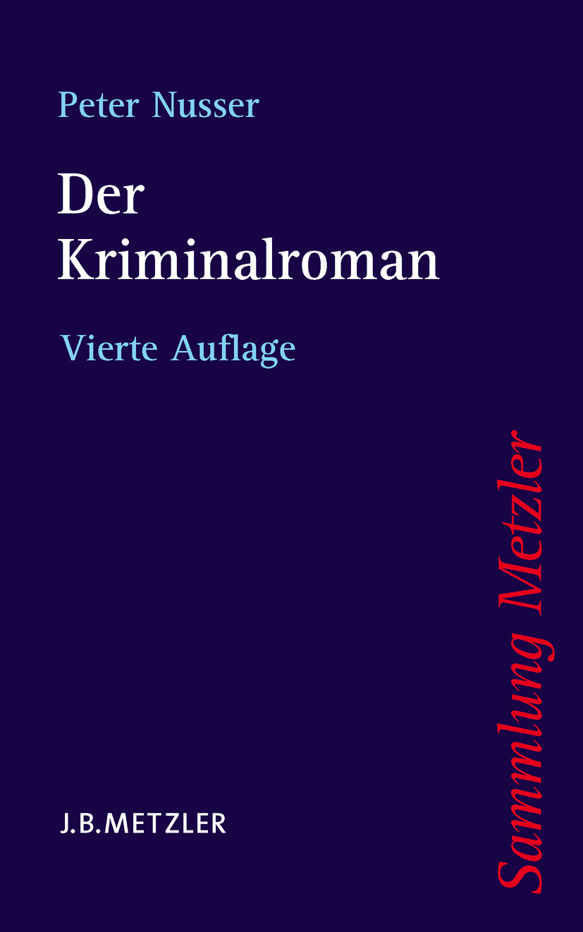 Nusser, Peter - Der Kriminalroman, ebook