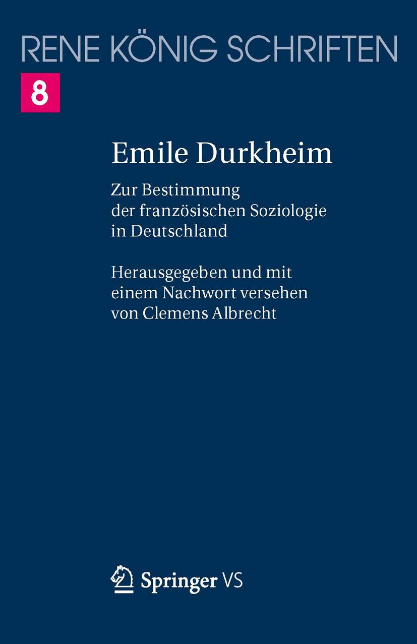König, René - Emile Durkheim, ebook