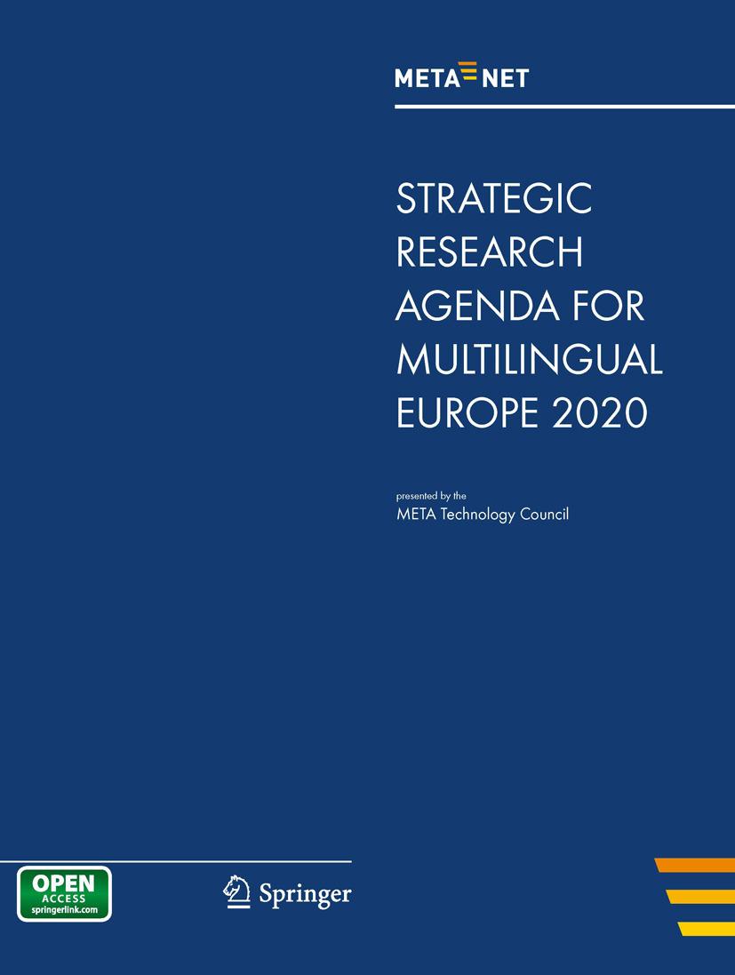 Rehm, Georg - META-NET Strategic Research Agenda for Multilingual Europe 2020, ebook