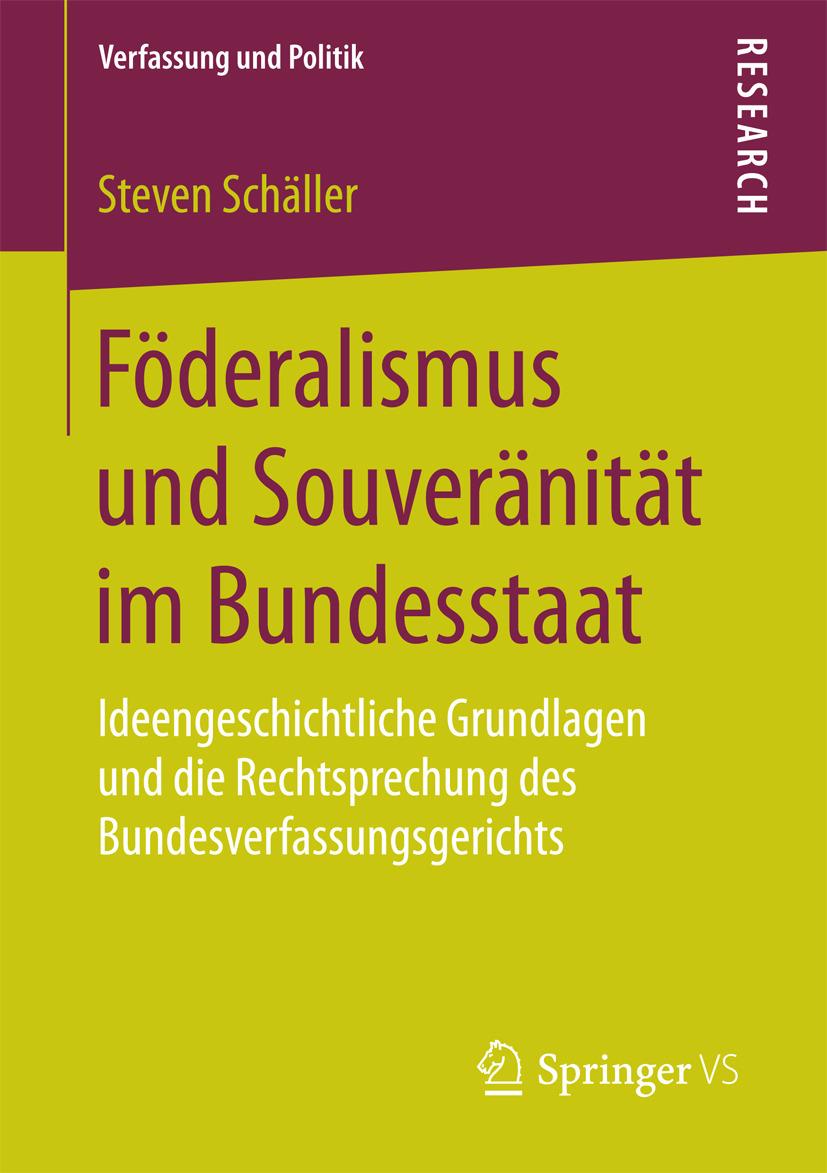 Schäller, Steven - Föderalismus und Souveränität im Bundesstaat, ebook