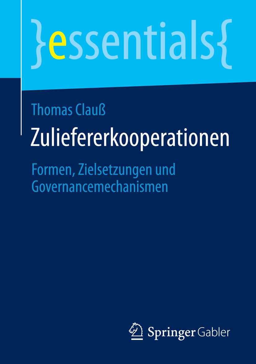 Clauß, Thomas - Zuliefererkooperationen, ebook