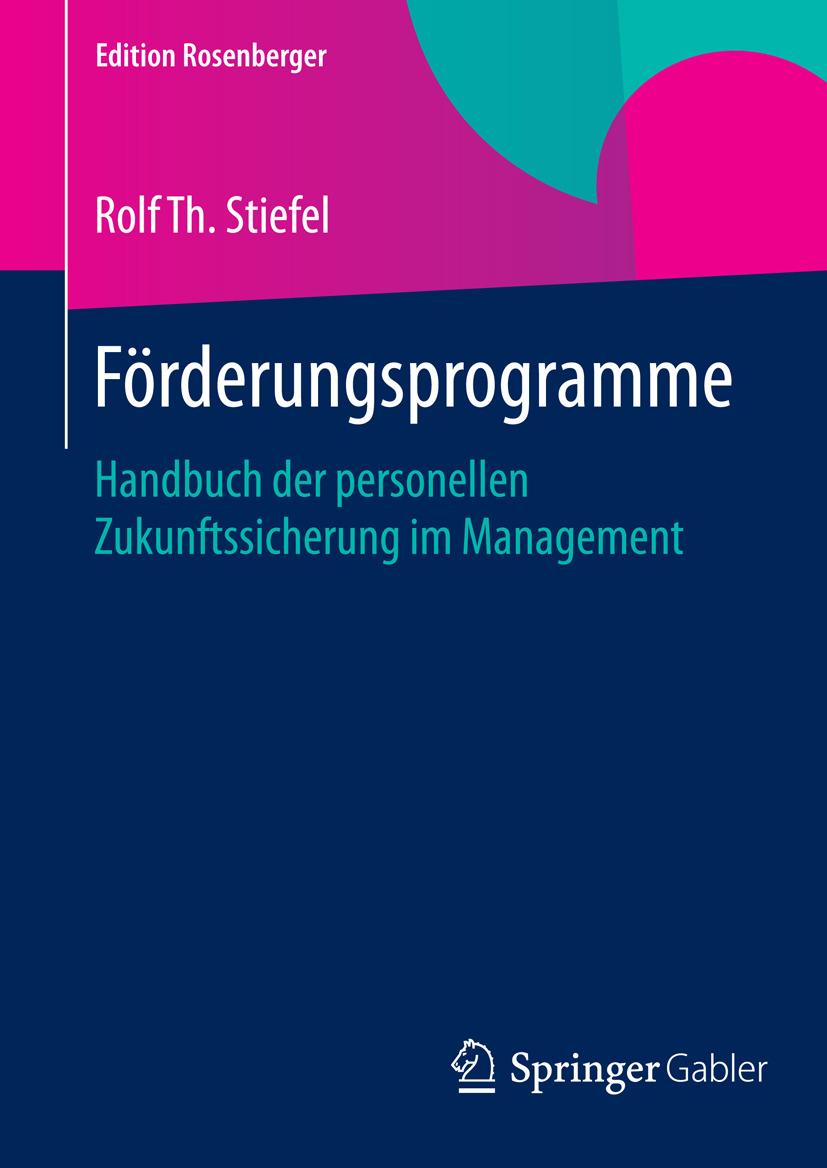 Stiefel, Rolf Th. - Förderungsprogramme, ebook
