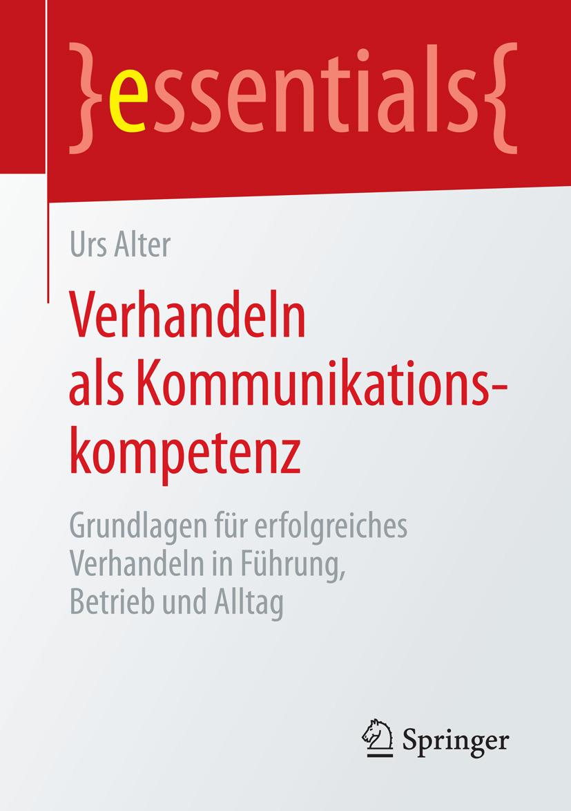 Alter, Urs - Verhandeln als Kommunikationskompetenz, ebook