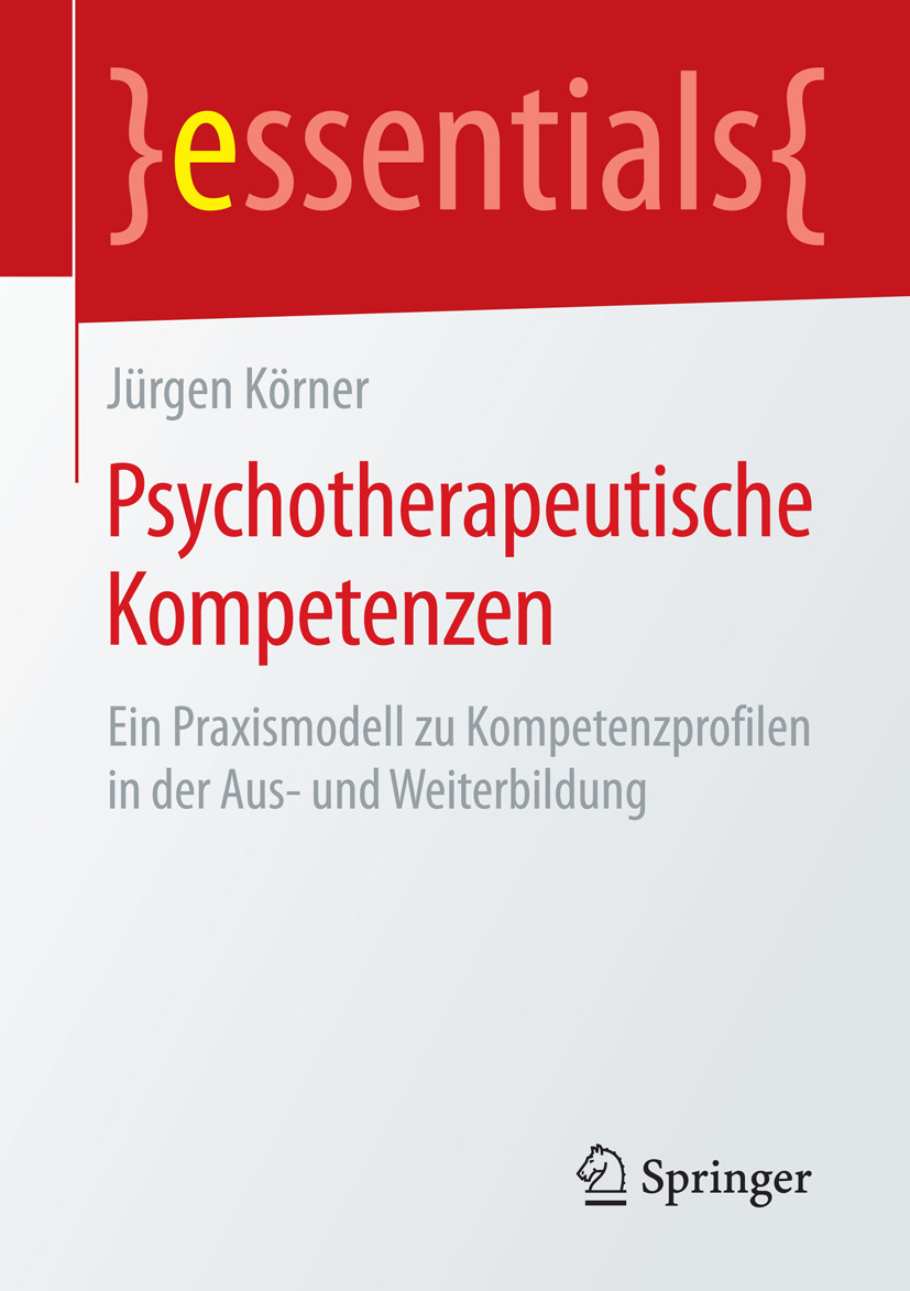 Körner, Jürgen - Psychotherapeutische Kompetenzen, ebook