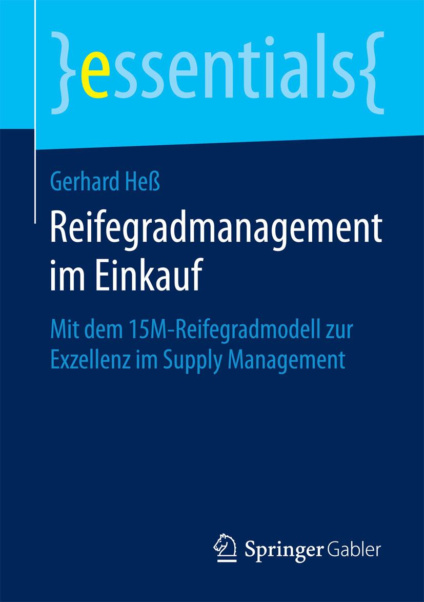 Heß, Gerhard - Reifegradmanagement im Einkauf, ebook