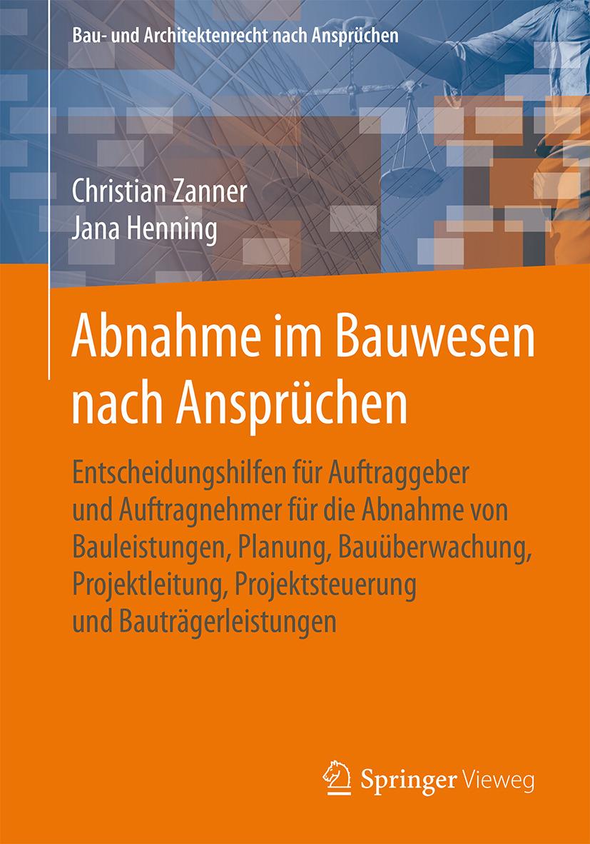 Henning, Jana - Abnahme im Bauwesen nach Ansprüchen, ebook