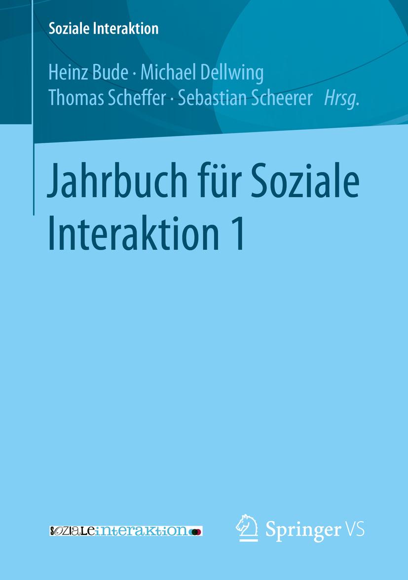 Bude, Heinz - Jahrbuch für Soziale Interaktion 1, ebook