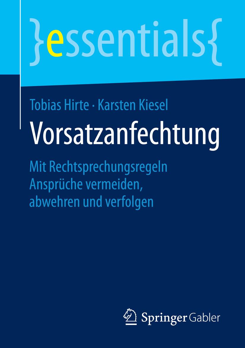Hirte, Tobias - Vorsatzanfechtung, ebook