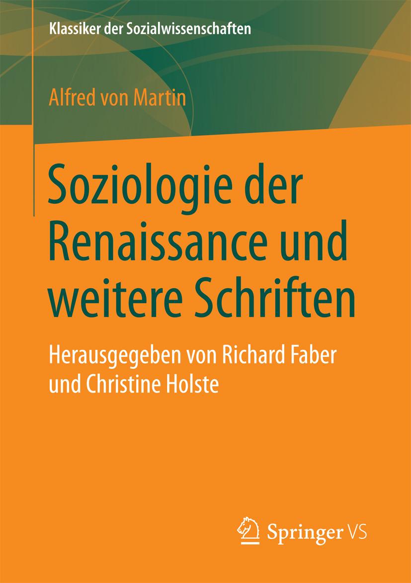 Martin, Alfred von - Soziologie der Renaissance und weitere Schriften, ebook