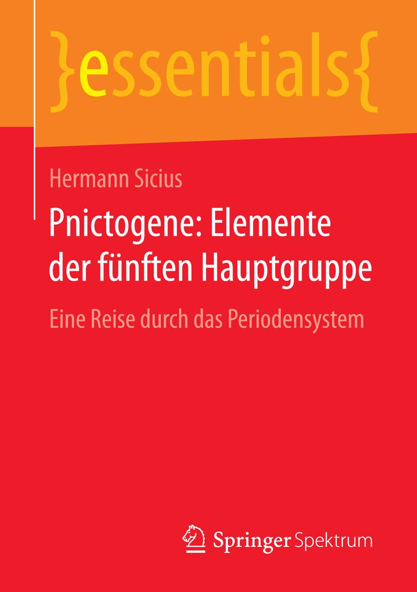 Sicius, Hermann - Pnictogene: Elemente der fünften Hauptgruppe, ebook