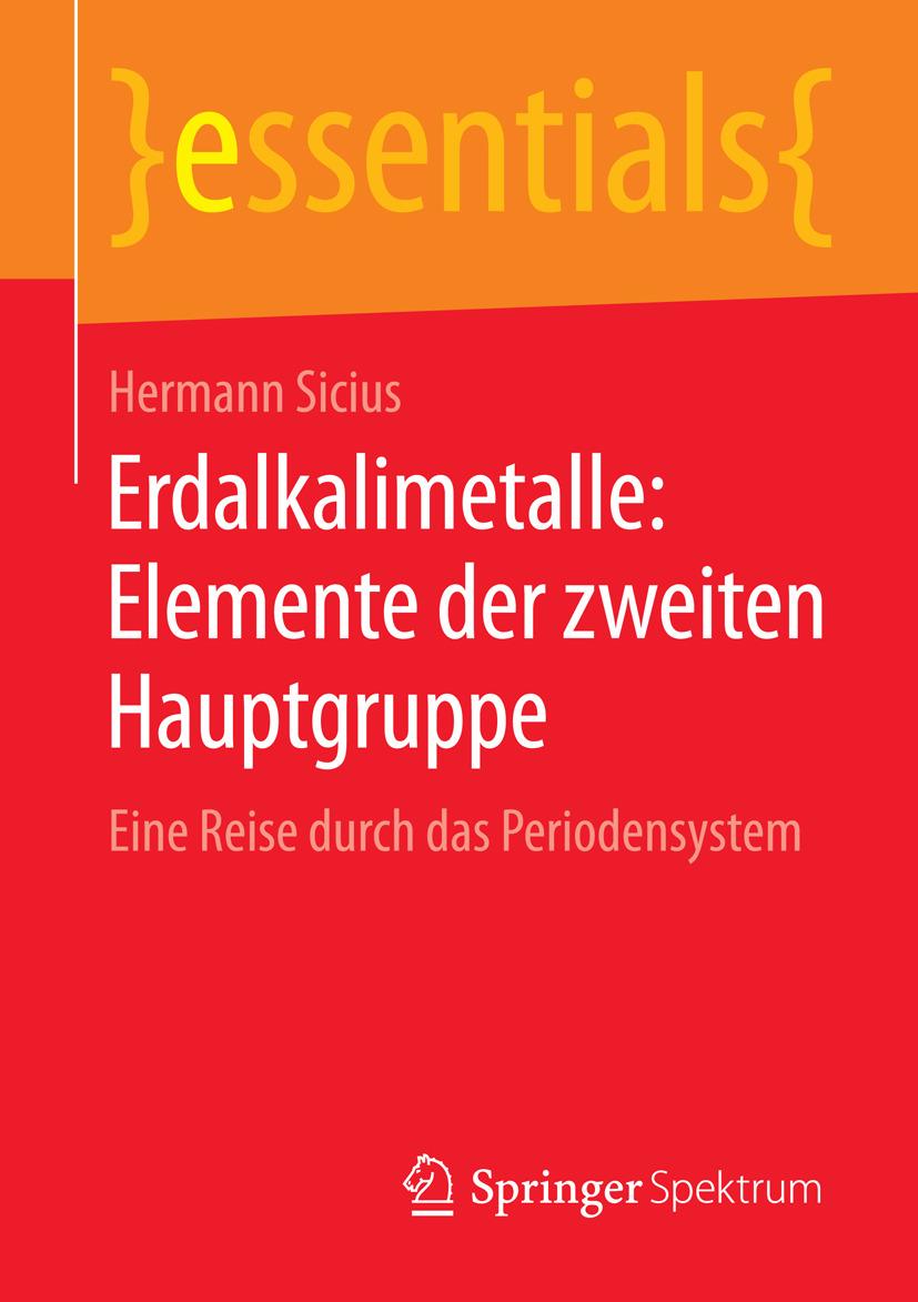 Sicius, Hermann - Erdalkalimetalle: Elemente der zweiten Hauptgruppe, ebook