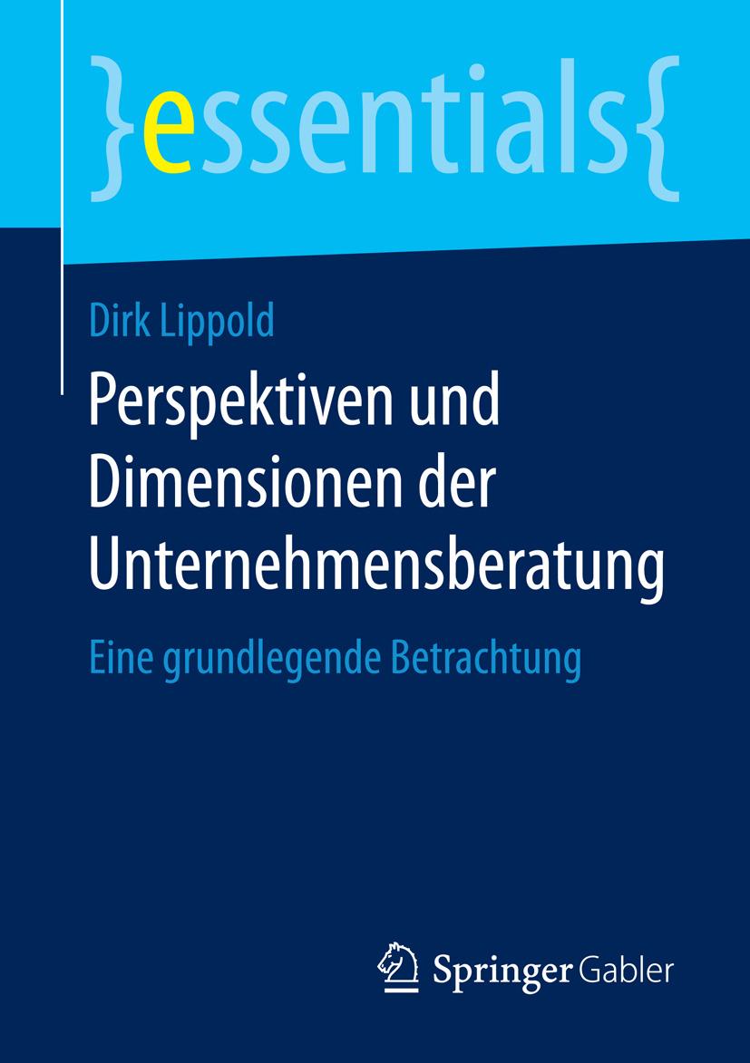 Lippold, Dirk - Perspektiven und Dimensionen der Unternehmensberatung, e-bok