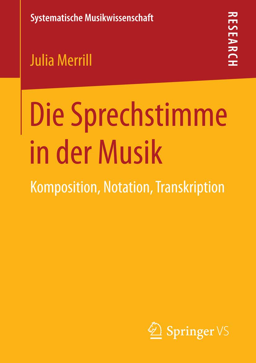 Merrill, Julia - Die Sprechstimme in der Musik, ebook