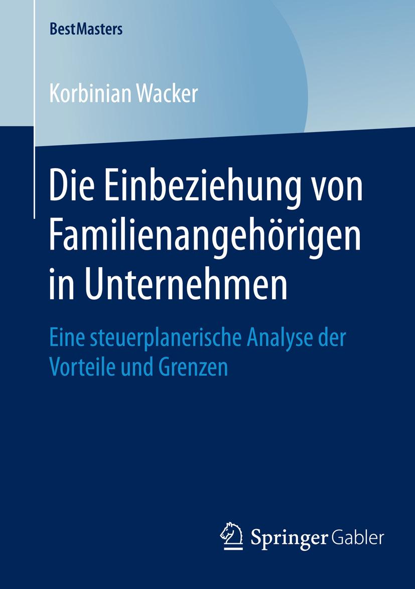 Wacker, Korbinian - Die Einbeziehung von Familienangehörigen in Unternehmen, ebook