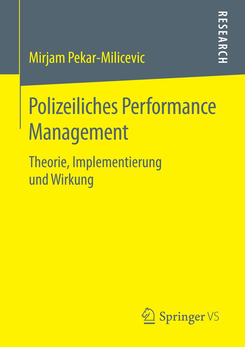 Pekar-Milicevic, Mirjam - Polizeiliches Performance Management, ebook