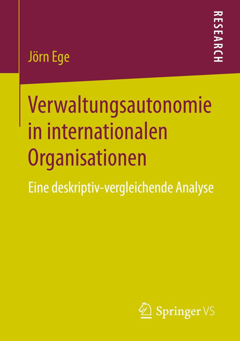 Ege, Jörn - Verwaltungsautonomie in internationalen Organisationen, ebook
