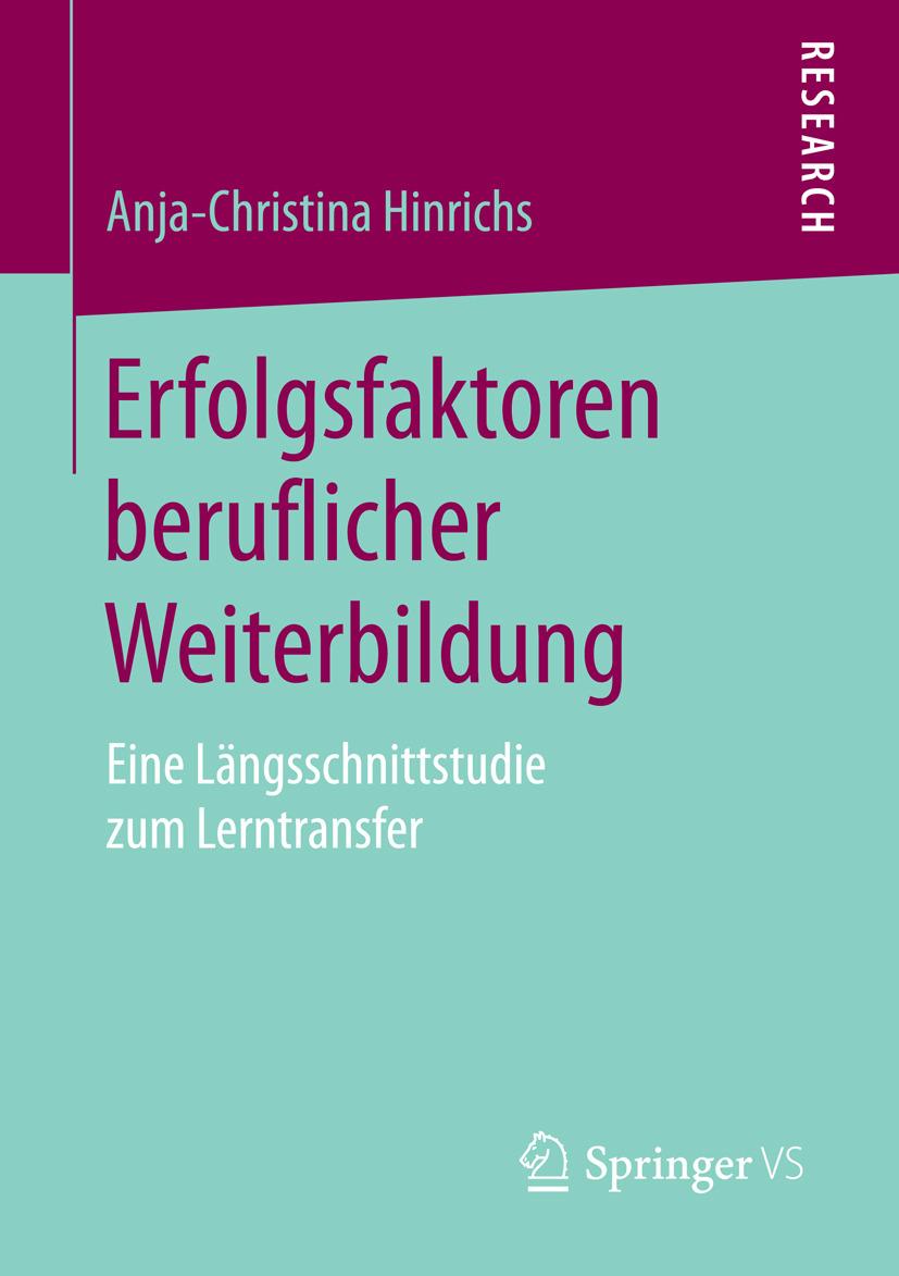 Hinrichs, Anja-Christina - Erfolgsfaktoren beruflicher Weiterbildung, ebook