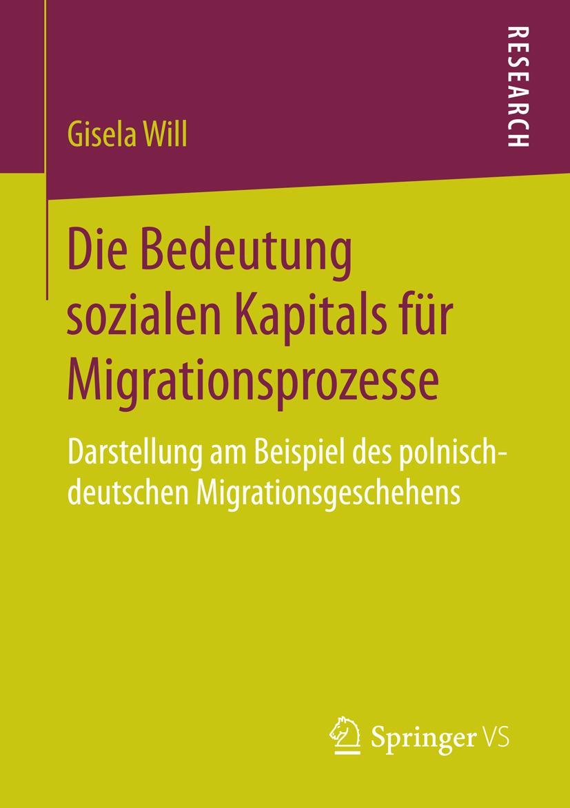 Will, Gisela - Die Bedeutung sozialen Kapitals für Migrationsprozesse, ebook