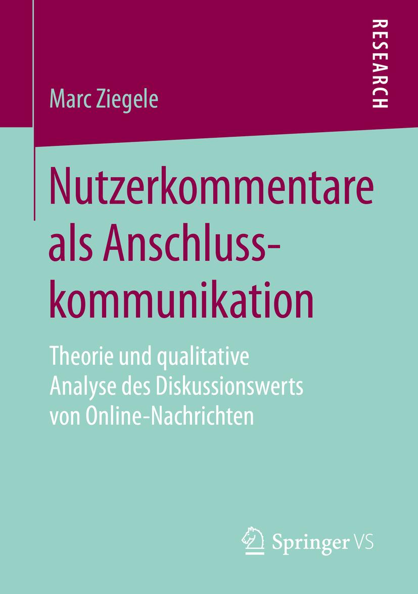 Ziegele, Marc - Nutzerkommentare als Anschlusskommunikation, ebook
