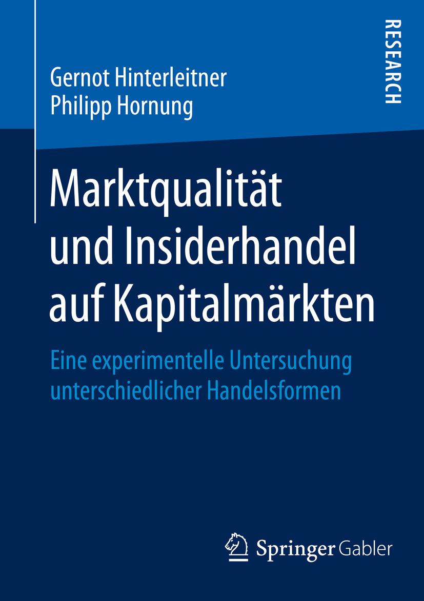 Hinterleitner, Gernot - Marktqualität und Insiderhandel auf Kapitalmärkten, ebook