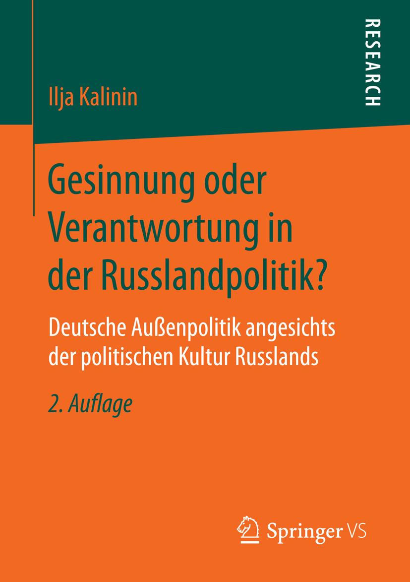 Kalinin, Ilja - Gesinnung oder Verantwortung in der Russlandpolitik?, ebook