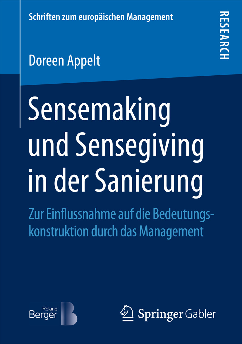 Appelt, Doreen - Sensemaking und Sensegiving in der Sanierung, ebook