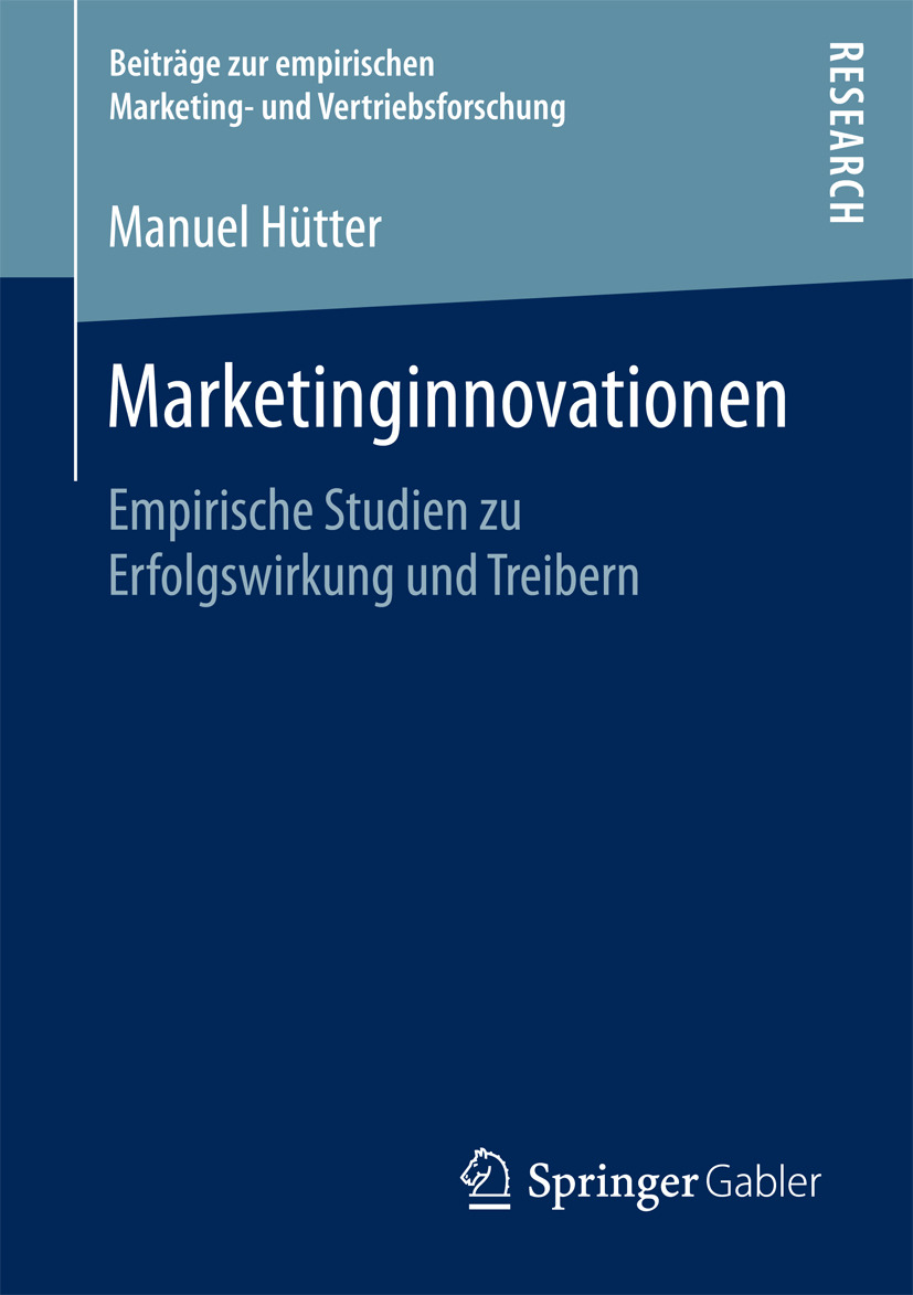 Hütter, Manuel - Marketinginnovationen, ebook