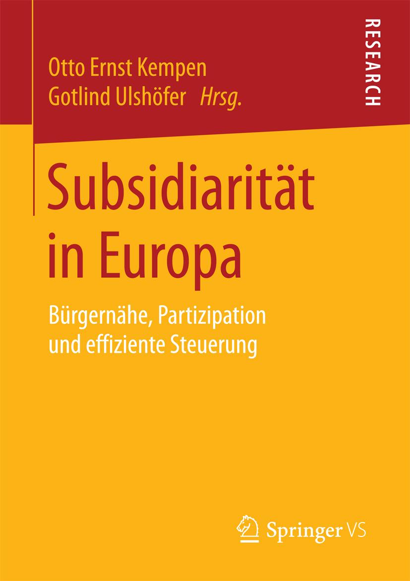 Kempen, Otto Ernst - Subsidiarität in Europa, ebook