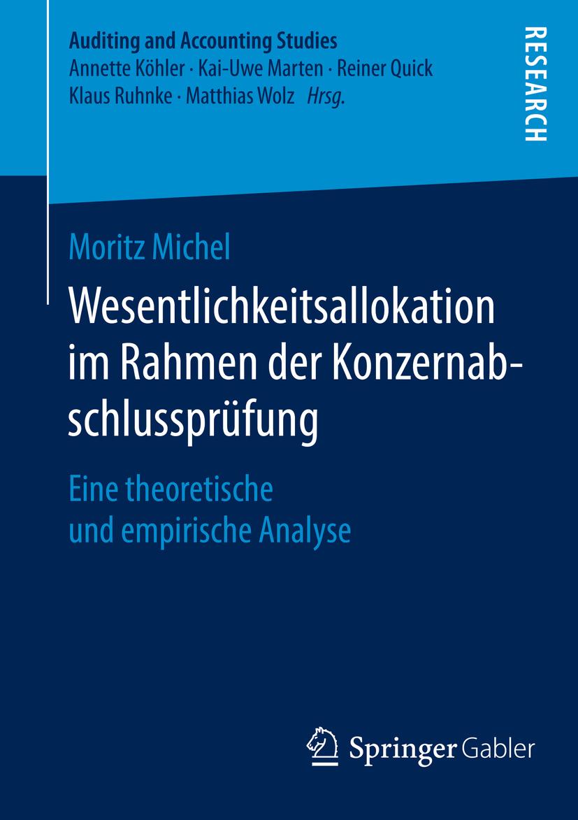 Michel, Moritz - Wesentlichkeitsallokation im Rahmen der Konzernabschlussprüfung, ebook