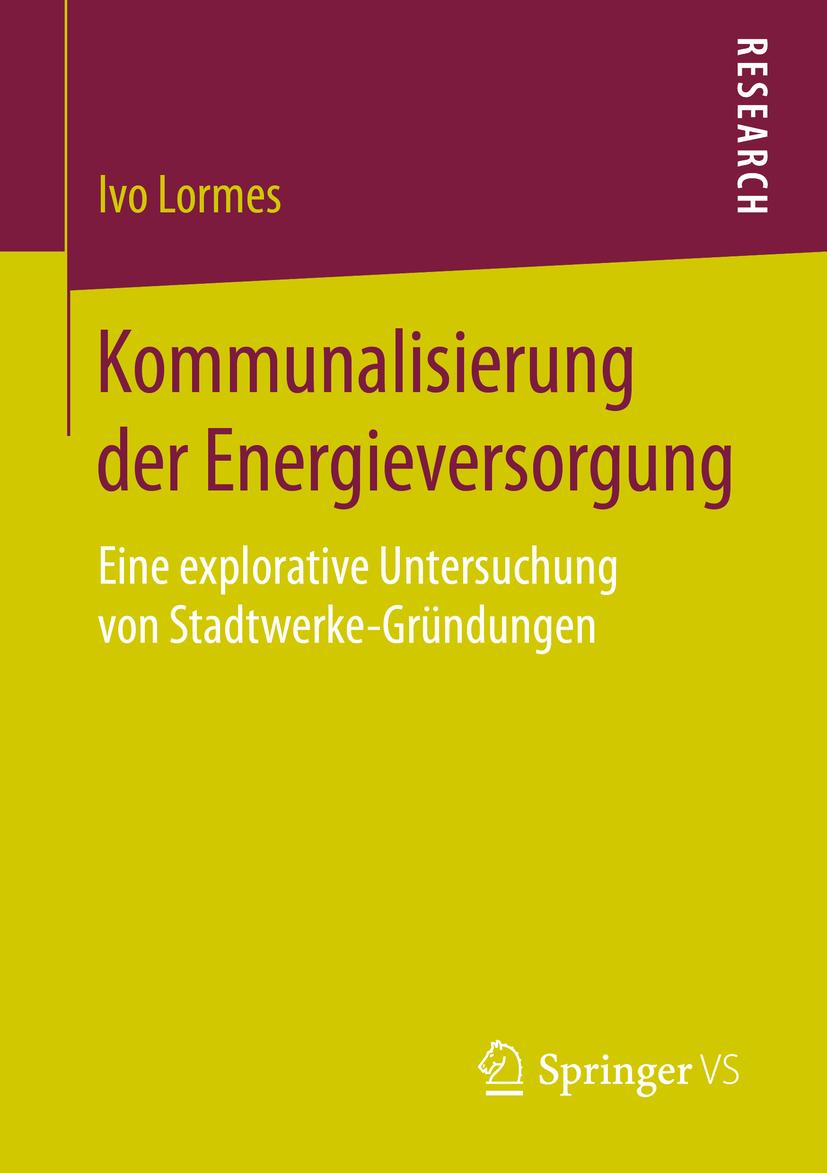 Lormes, Ivo - Kommunalisierung der Energieversorgung, ebook
