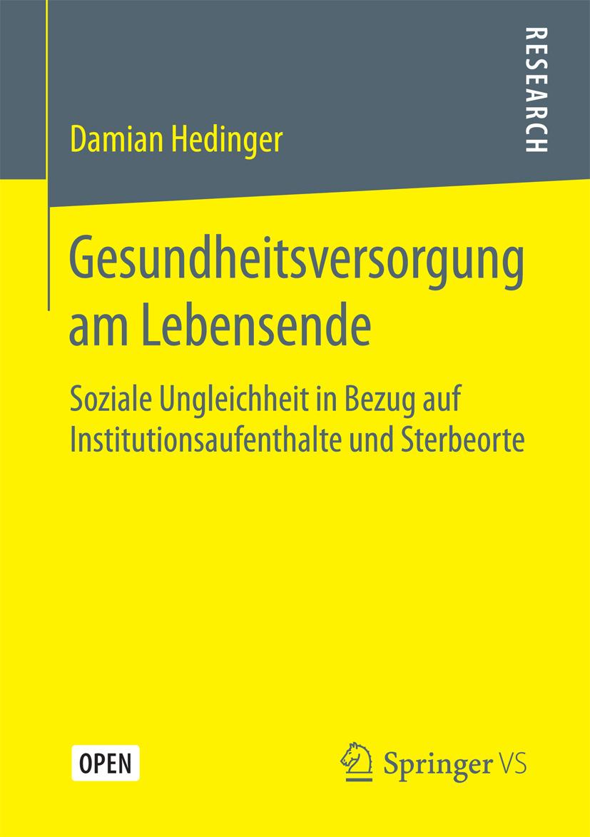 Hedinger, Damian - Gesundheitsversorgung am Lebensende, ebook