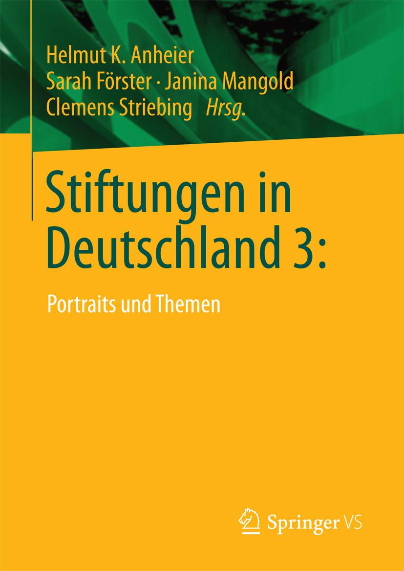 Anheier, Helmut K. - Stiftungen in Deutschland 3:, ebook