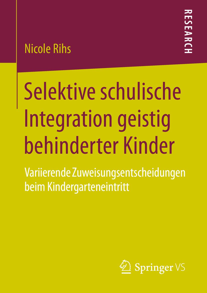 Rihs, Nicole - Selektive schulische Integration geistig behinderter Kinder, ebook