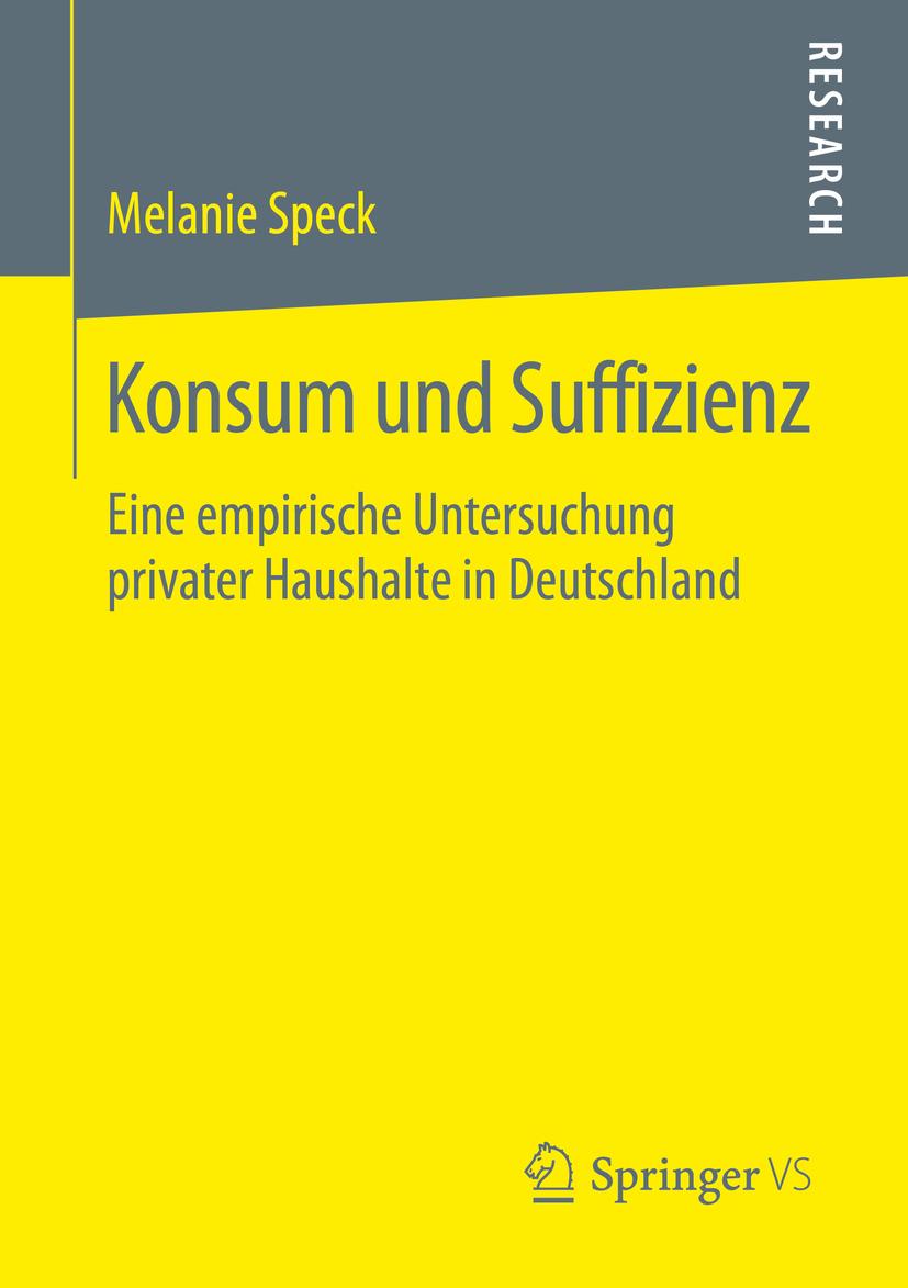Speck, Melanie - Konsum und Suffizienz, ebook