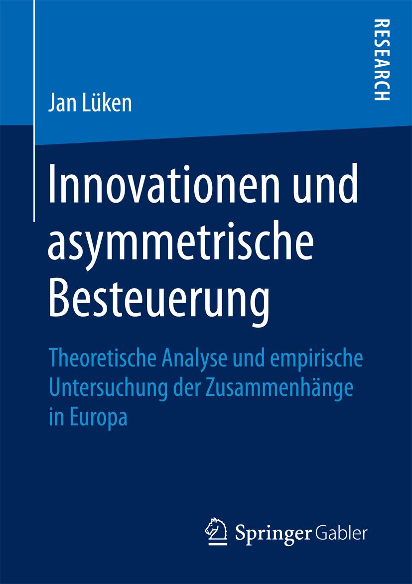 Lüken, Jan - Innovationen und asymmetrische Besteuerung, ebook