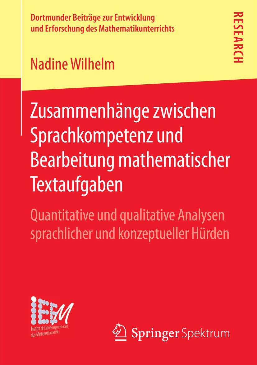 Wilhelm, Nadine - Zusammenhänge zwischen Sprachkompetenz und Bearbeitung mathematischer Textaufgaben, ebook