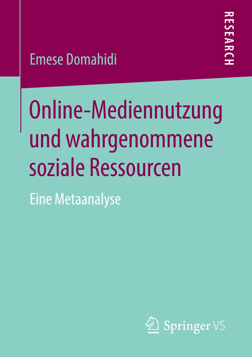 Domahidi, Emese - Online-Mediennutzung und wahrgenommene soziale Ressourcen, ebook